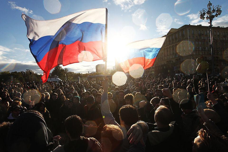 Акция в поддержку оппозиционного политика Алексея Навального в Москве