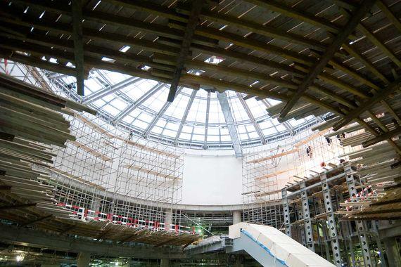 В галерее международного вылета появится атриум. В его своде будет расположен стеклянный купол