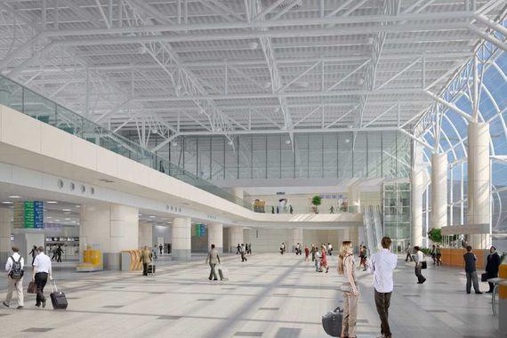 Проект общей зоны в аэровокзале