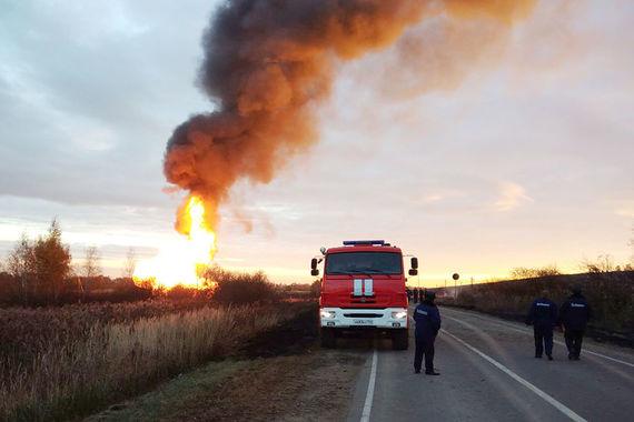 В Подмосковье горел газопровод крупнейшего подразделения «Газпрома»