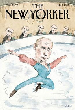 Январь 2014 г. В преддверии Олимпиады в Сочи вышел номер The New Yorker с обложкой, на которой Владимир Путин изображен в образе фигуриста