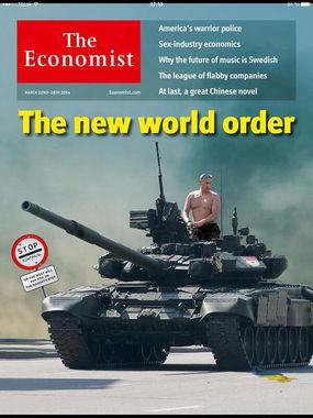 Economist в марте 2014 г. после присоединения Крыма к России вышел с заголовком на обложке «Новый мировой порядок»