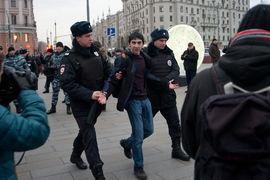 Задержание на Пушкинской площади