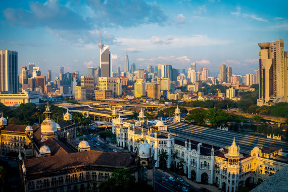 Замыкает десятку самых посещаемых городов Куала-Лумпур (12,8 млн)