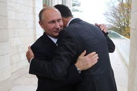 Президент Сирии Башар Асад и президент России Владимир Путин