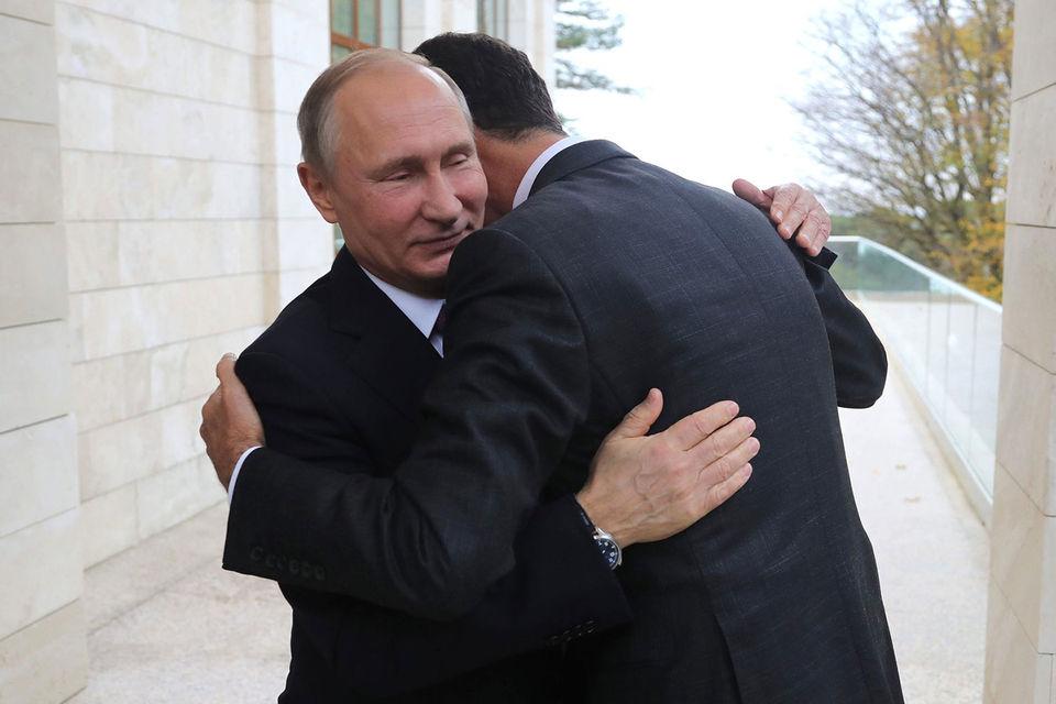Враги Народа: Госдеп США заявил, что РФ несет ответственность за действия Дамаска, приложив к своей речи фотографию Путина и Асада