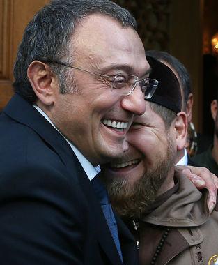 Керимов и глава Чечни Рамзан Кадыров на  открытии Московской соборной мечети