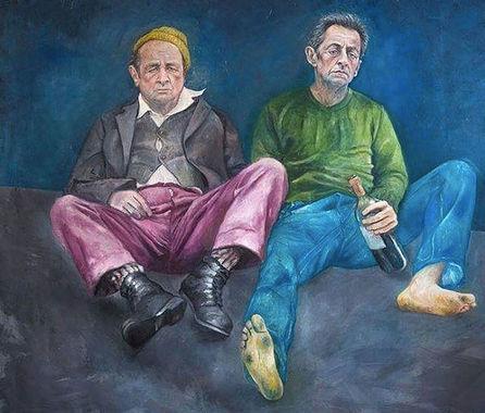 Бывшие президенты Франции Франсуа Олланд и Николя Саркози