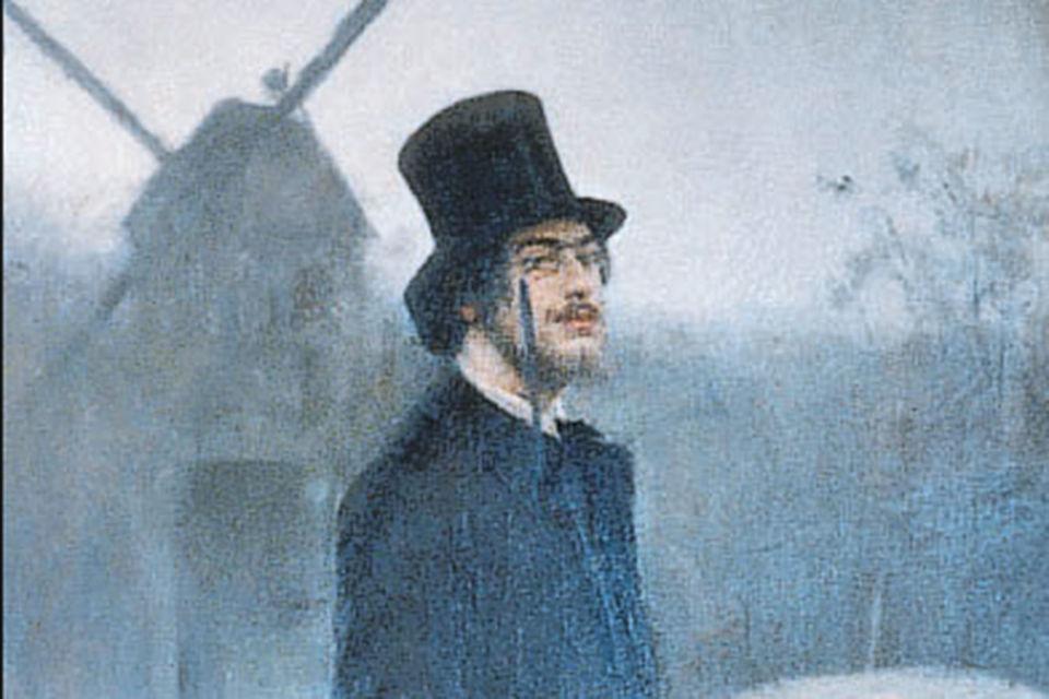 На картине «Богема. Поэт Монмартра» (1891) художник Рамон Касас изобразил своего знакомого Эрика Сати