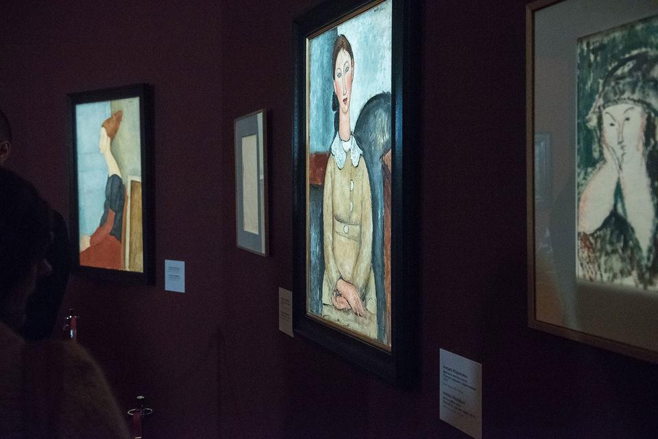 Портреты Модильяни – в центре экспозиции и внимания зрителей