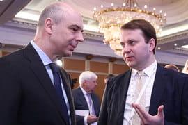 Министр финансов Антон Силуанов и министр экономического развития Максим Орешкин