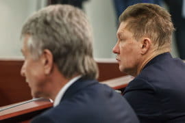 Предправления «Новатэка» Леонид Михельсон и «Газпрома» Алексей Миллер