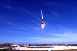 Нижняя ступень Falcon 9 приземлилась на платформу
