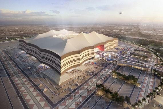 Стадион «Эль Байт» стилизован под тент бедуинов, который называется «байт аль шар»