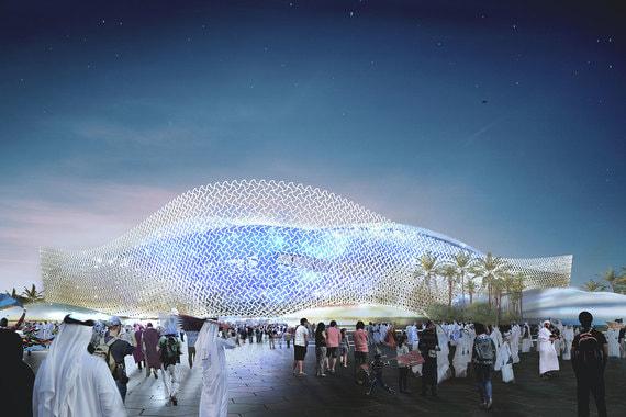 Фасад «Эль Райяна» будет светиться, он сложен из геометрических фигур, характерных для исламской архитектуры