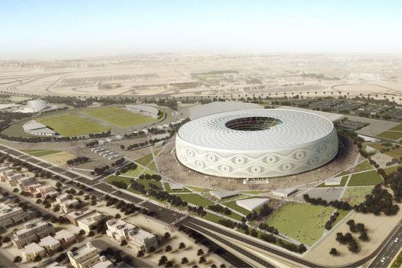 Стадион «Эль Тумама» (40 000 мест) в Дохе будет выполнен в виде куфи, традиционной шапочки, которую носят мужчины в мусульманских странах