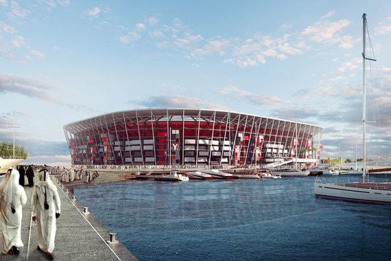 Стадион «Рас Абу Абуд» возводится в Дохе на берегу Западного залива, на главном морском променаде — Корниш-авеню. Используются модульные конструкции и настоящие контейнеры, дизайн, таким образом, перекликается с расположенным по соседству портом Дохи