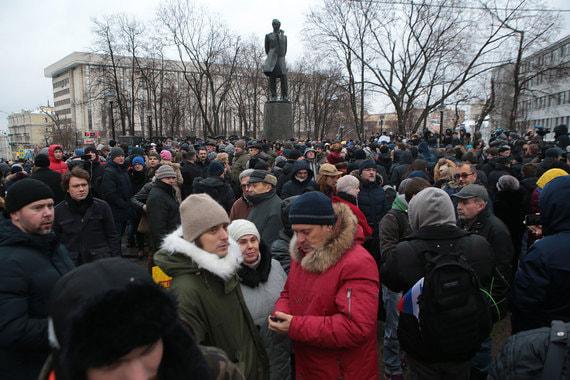 Всего в акции, по оценке «Ведомостей», участвовали порядка 500 человек
