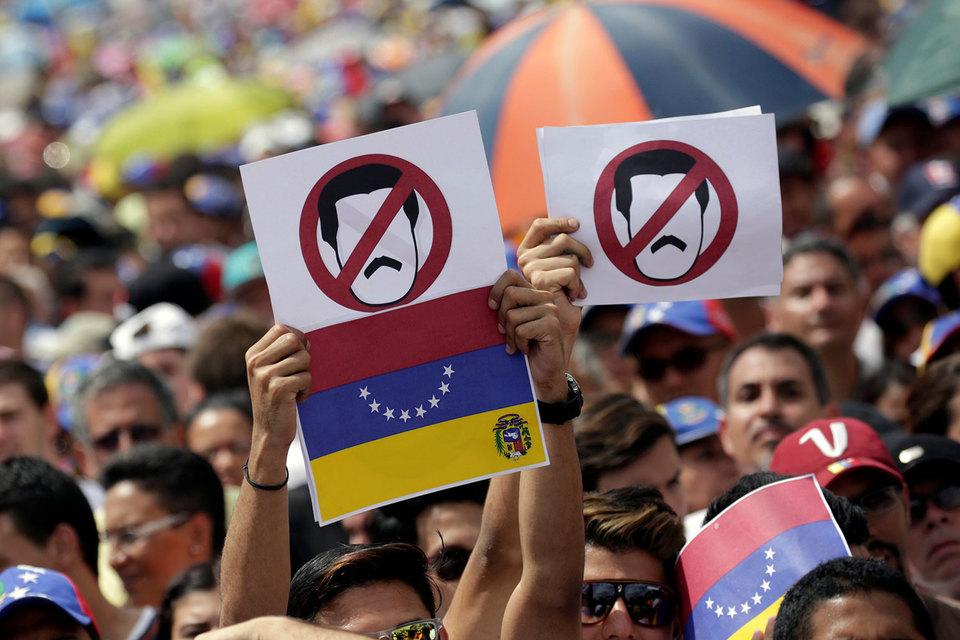 Оппозиция победила на парламентских выборах 2015 г. на волне недовольства политикой Мадуро и правящей социалистической партии