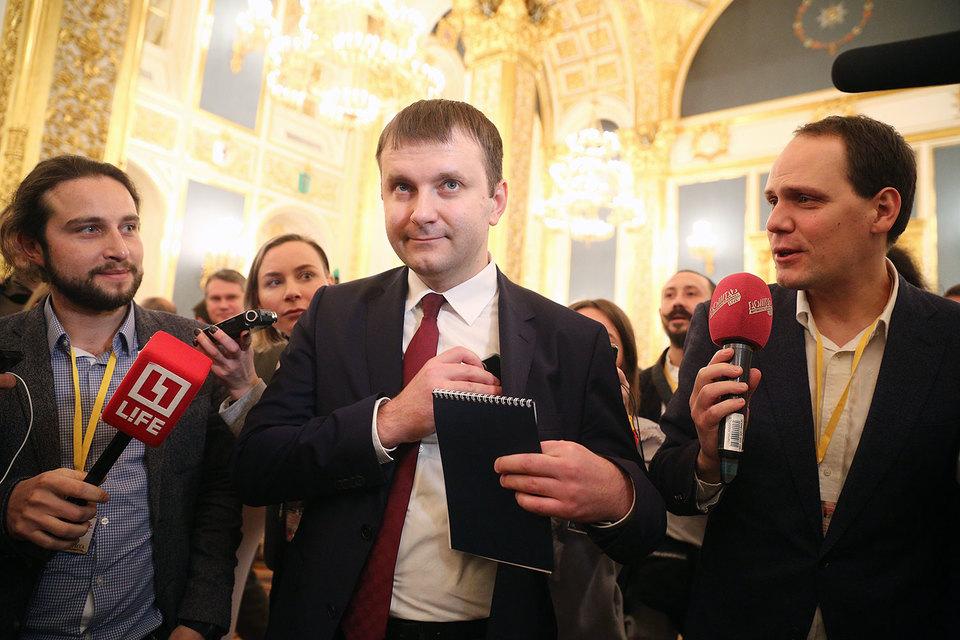 Новый министр экономического развития Максим Орешкин сам подписал план документоускорения
