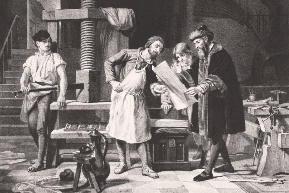 Изобретение Гутенбергом книгопечатания привело в том числе кросту национального самосознания