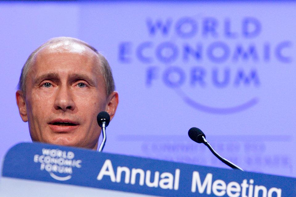 Президент России Владимир Путин в Давосе был единожды – в 2009 г., когда не был президентом