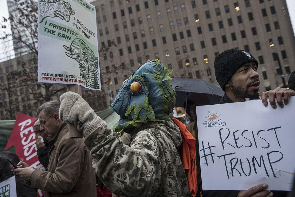 Протестующие устроили Goldman Sachs «Болотную»