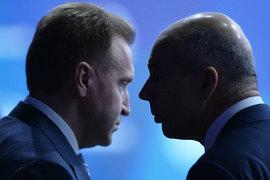 Интересы Игоря Шувалова (слева) и министра финансов Антона Силуанова в дискуссии о размере дивидендов совпадают не полностью