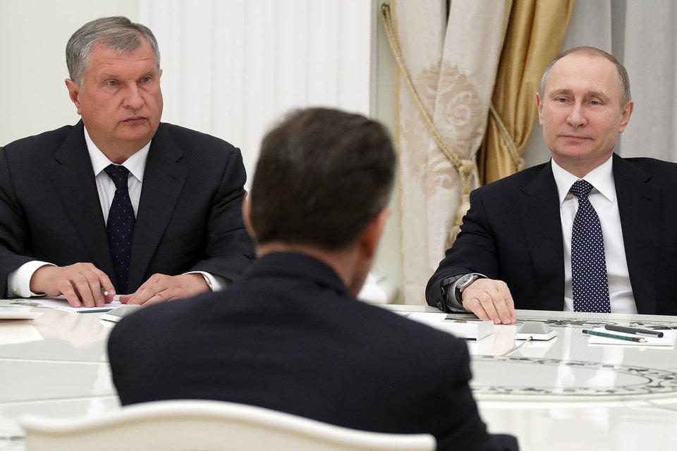 Владимир Путин встретился с новыми акционерами «Роснефти» и убедился, что за этой сделкой последуют другие