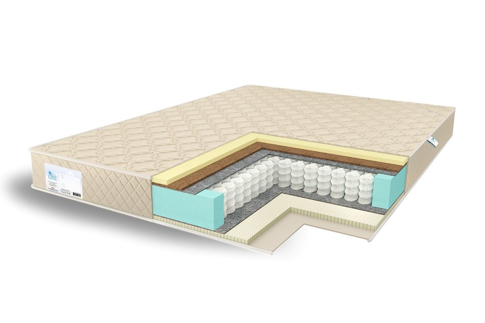 Матрас с комбинированным наполнением на независимом пружинном блоке