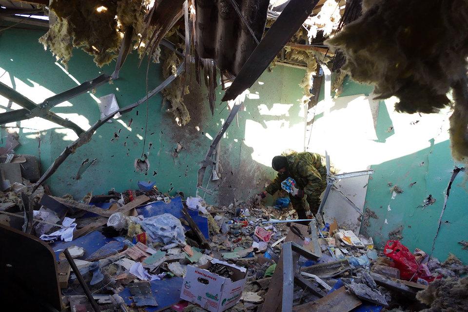 Донецк снова оказался под артобстрелом