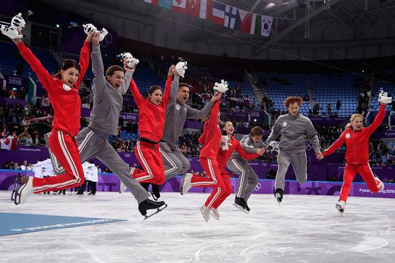 12 февраля 2018 г. Российские фигуристы завоевали серебро в рамках командного турнира на Олимпиаде в Пхенчхане, набрав 66 баллов