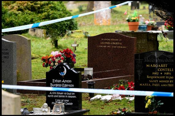 Сотрудники судебно-медицинской экспертизы начали масштабный поиск улик в доме Скрипаля, а также оцепили могилы его жены и сына. В Скотланд-Ярде сообщили, что не будут эксгумировать тела, и что могилу оцепили по «оперативным причинам». По данным The Guardian, супруга Скрипаля Людмила умерла в 2012 г. от рака, а их сын Александр скончался в Санкт-Петербурге в июле прошлого года, ему было 43 года