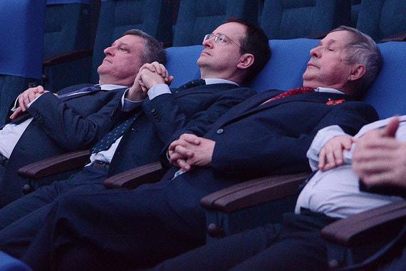 13 марта 2018 г. Министр культуры Владимир Мединский (в центре) принял участие в открытии детского космического центра в Кирове