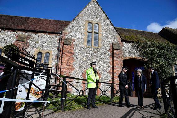 Исторический паб The Mill, рядом с которым на скамейке 4 марта обнаружили Скрипаля с дочерью