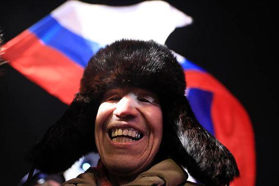 На Манежной площади в центре Москвы прошел митинг-концерт «Россия.  Севастополь. Крым»