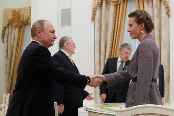 Владимир Путин приветствует Ксению Собчак