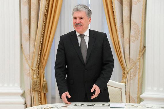 Павел Грудинин до начала встречи с президентом