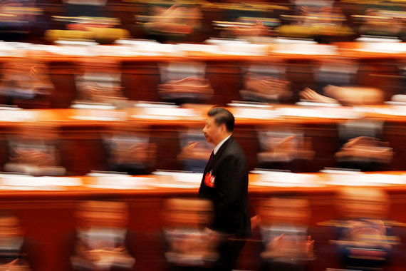 20 марта 2018 г. Председатель КПК Си Цзиньпин на съезде Всекитайского собрания народных представителей