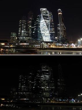 Москва приняла участие в экологической акции «Час Земли» в десятый раз. В этом году подсветку отключили почти у двух тысяч зданий