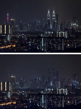 Башни-близнецы Петронас погасли, чтобы отметить «Час Земли» в Куала-Лумпуре