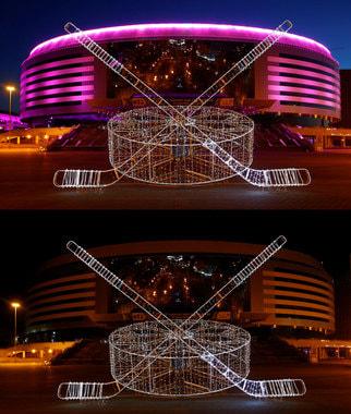 Комплекс «Минск-Арена» в Минске тоже погас на час