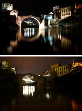Старый мост в городе Мостар в Боснии и Герцеговине