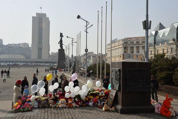 Владивосток, мемориал у стелы «Город воинской славы»