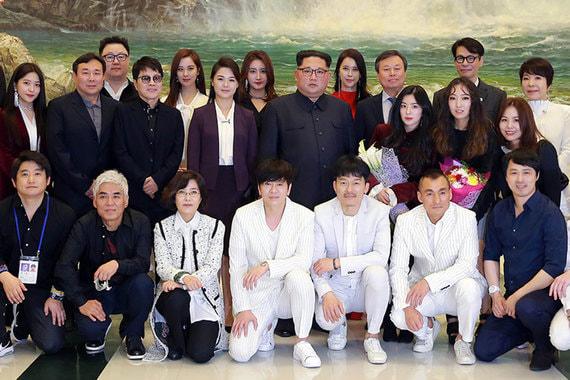 normal thy Ким Чен Ын сходил на концерт южнокорейских поп звезд
