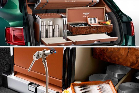 Еще один пример тематического аксессуара Bentley Mulliner — автомобиль с аксессуарами для рыбной ловли. Его стоимость BBC оценивает в 80 000 фунтов
