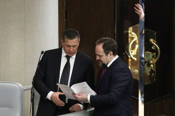 Вице-премьер Юрий Трутнев и министр природных ресурсов и экологии Сергей Донской (справа)