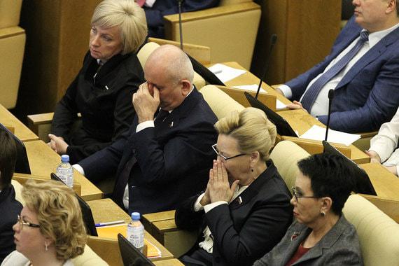 Депутаты Татьяна Сапрыкина, Юшаа Газгиреев, Галина Данчикова и Лариса Шойгу (слева направо)