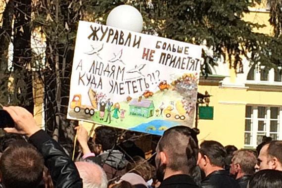 Протестующие в Сергиевом Посаде