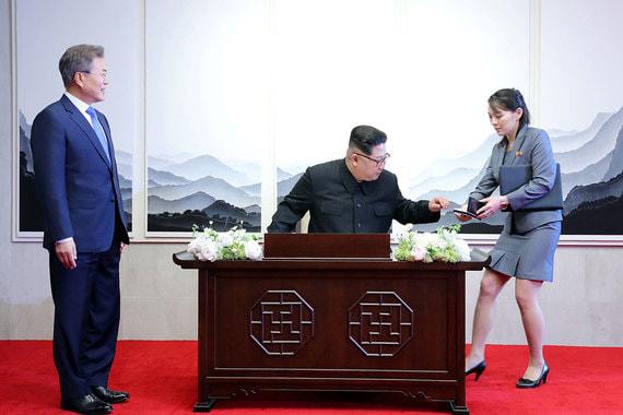 В  настоящее время ведется подготовка встречи лидера КНДР Ким Чен Ына и  президента США Дональда Трампа